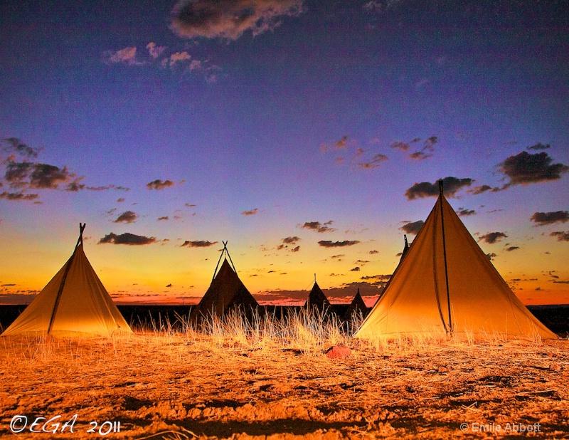 Pre-Dawn Cowboy Camp - ID: 12299445 © Emile Abbott