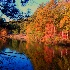 © J.Lamar Hicks PhotoID # 12491035: Fall-mtn lake