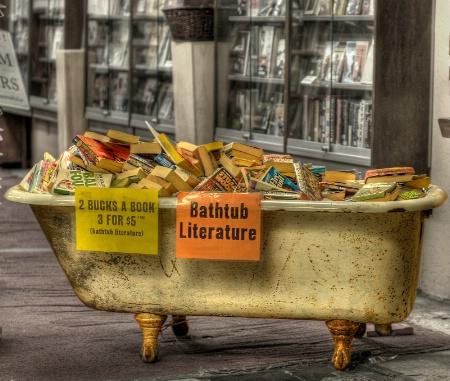 Bathtub Literature on Broadway