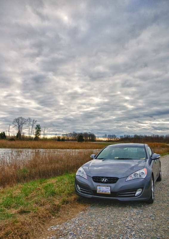 HDR Bombay Hook and car