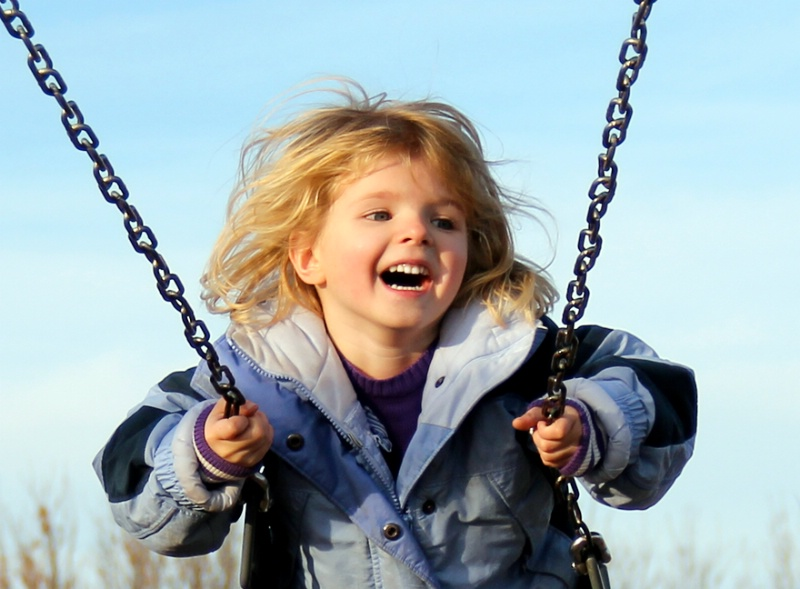 Happy is … swinging on beautiful fall day!