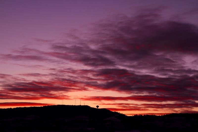 Sunset over Rapid City.