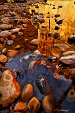 zions virgin river reflection