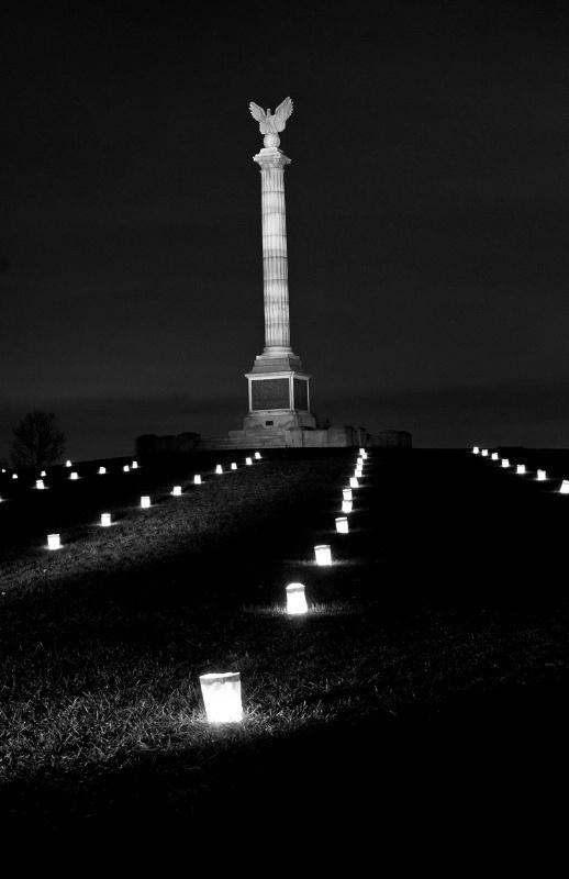Antietam Monument Illumination - ID: 12639662 © Don Johnson