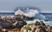 Ocean meets rocks...