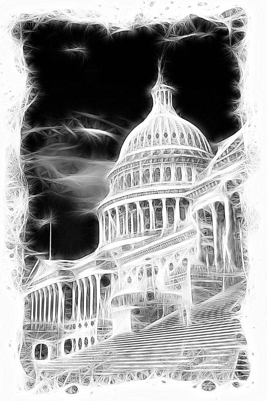US Capital B&W Artwork - ID: 12711151 © Don Johnson
