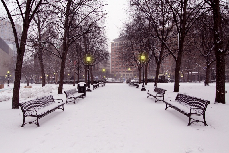 City Park in Snow