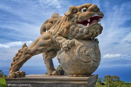 Stone Lion in Sun Yat Sen Memorial Park