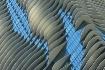 Wavy Aqua Blue