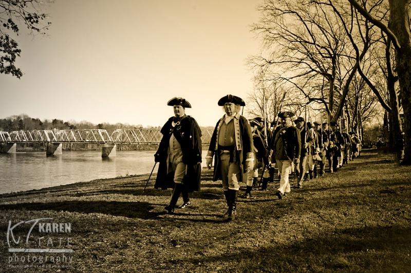 Reenactment of Washington's Crossing - ID: 12828740 © Karen Rosenblum