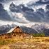 2John Moulton Barn on Mormon Row - ID: 12877319 © Richard M. Waas