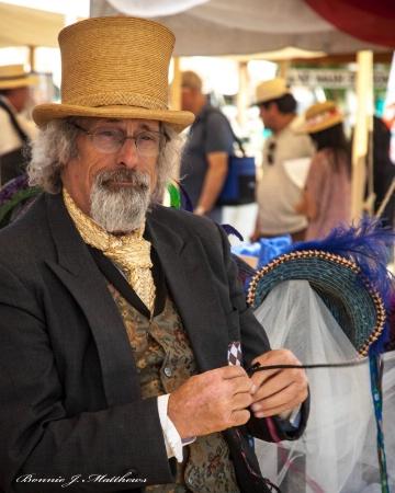 Heritage Days Civil War Reenactment-Hat Maker