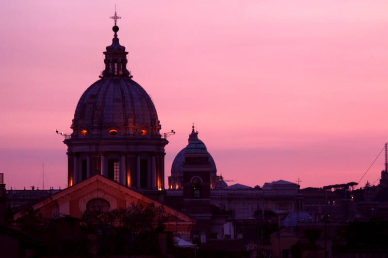View from the Spanish Steps at Dusk