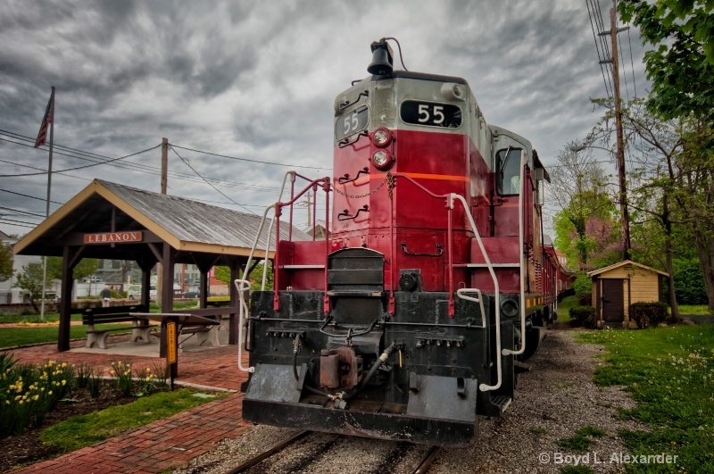 """""""Big Red"""" at the Station"""