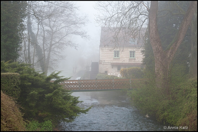 old french mill in mist - ID: 13175852 © Annie Katz