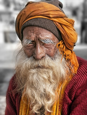 "INDIA5641 "" portrait of a man """
