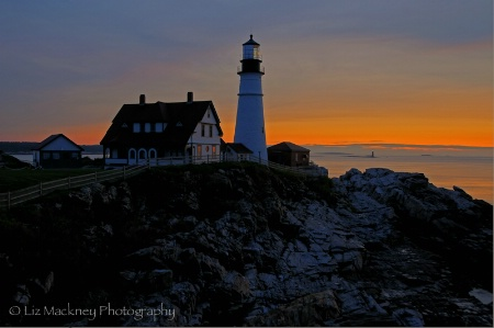 Portland Head Light Greets The New Day