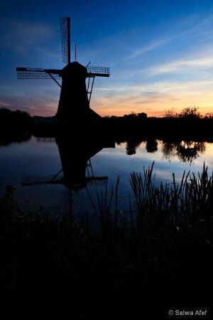 Silhouette @ Kinderdijk