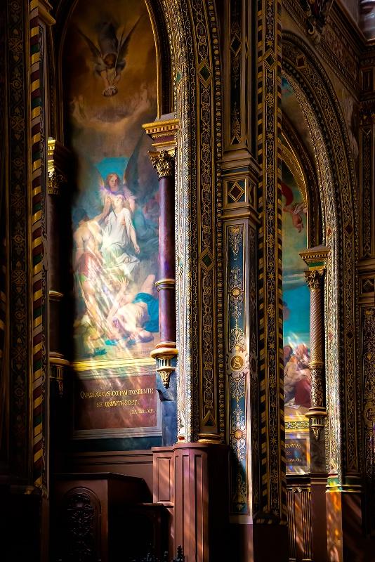 Golden Light - Paris Church in Les Halles