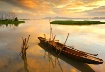 Serene Lake Sunse...