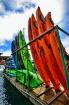 Kayaks Lined Up i...