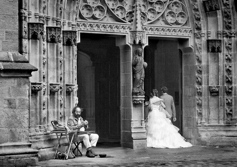 Busker and Bride