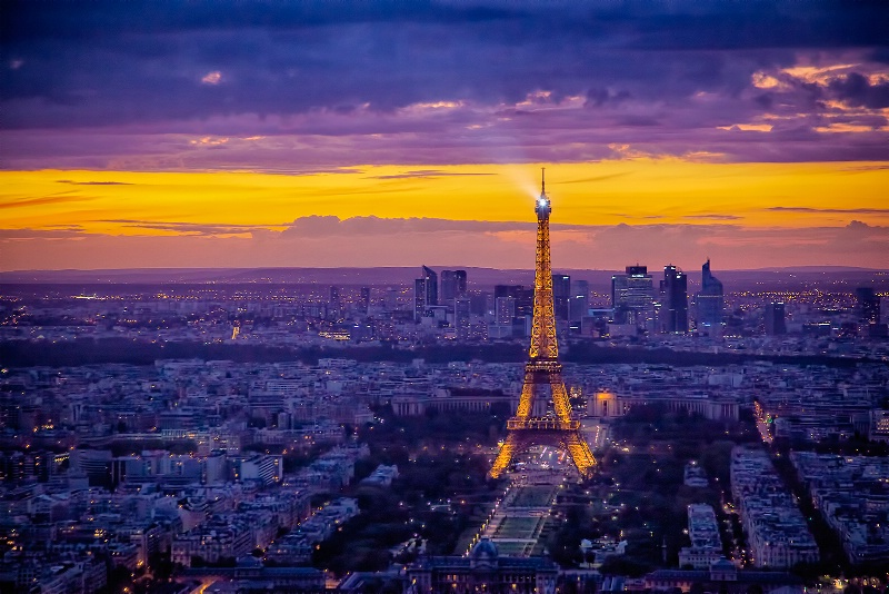 Sunset in the City of Light