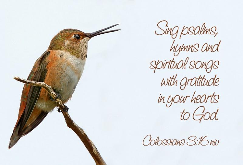 Colossians 3:16 niv - ID: 13645580 © Janine Russell