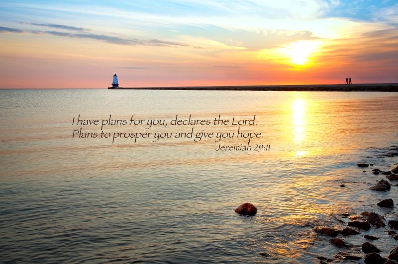 Ludington Lighthouse 1 / Jeremiah 29:11 - ID: 13666158 © Leland N. Saunders