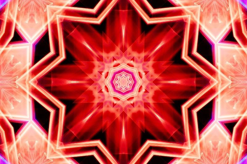 Seattle Light Abstract--Kaleidoscope #4 - ID: 13673286 © Don Johnson
