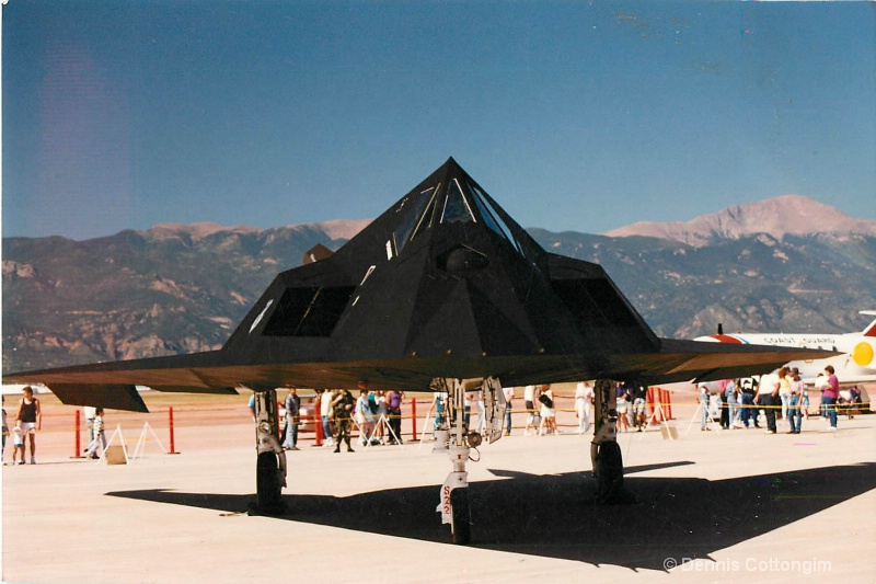 F-117 Stealth Aircraft at Peterson AFB Airshow - ID: 13676869 © Dennis K. Cottongim