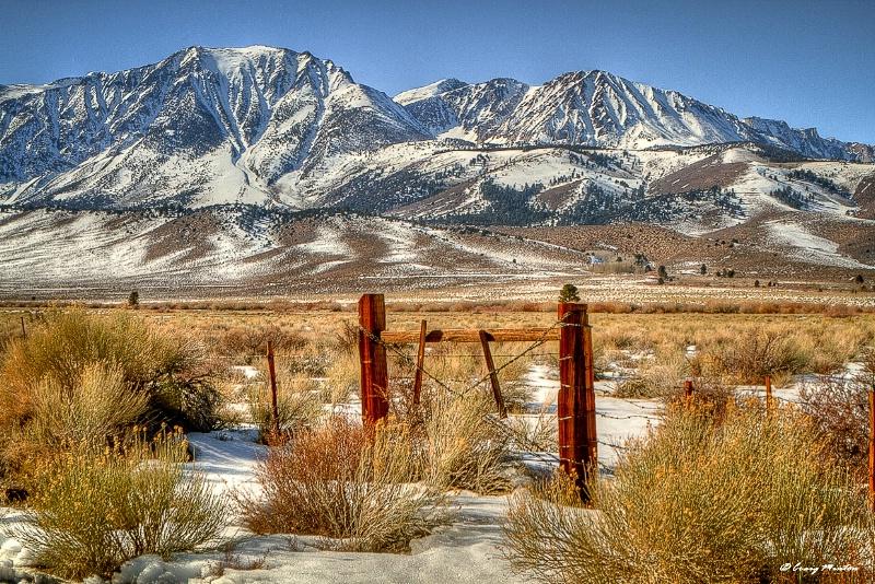 The Parker Bench, Eastern Sierras
