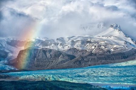 blue glacier rainbow