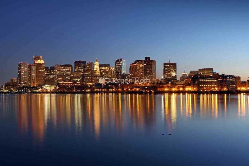 Boston Harbor and Downtown - ID: 13801975 © Juergen Roth
