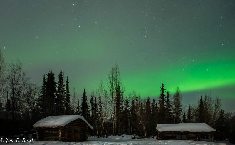 Northern Lights in Wiseman -- Wide Angle Comp - ID: 13820998 © John D. Roach