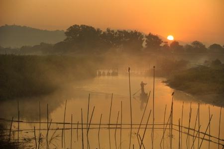 Morning Of Red Sunrise