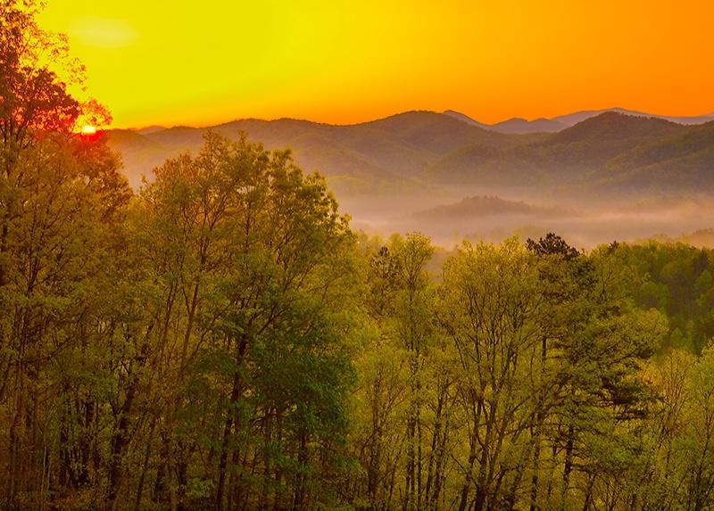 Sunrise Over the Smokies - ID: 13834311 © Philip B. Ludwig