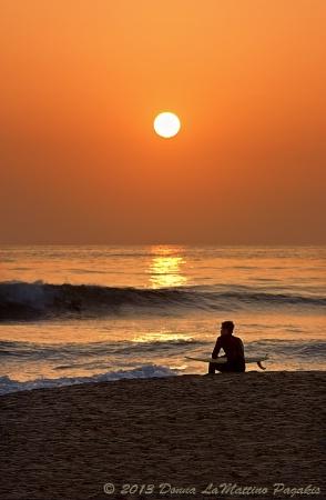 Contemplation at Sunset