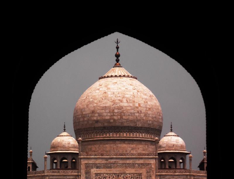 The Taj On A Rainy Day