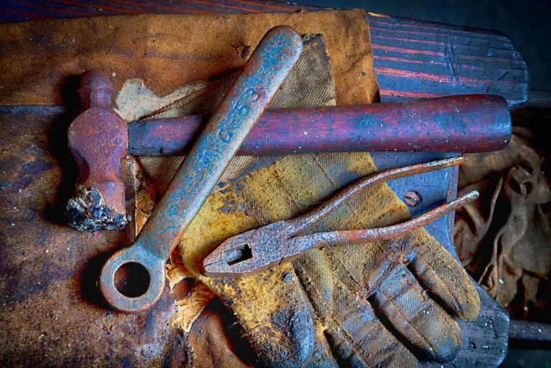 Silk Mill Tools - Lonaconing, Maryland - ID: 13976687 © Martin L. Heavner