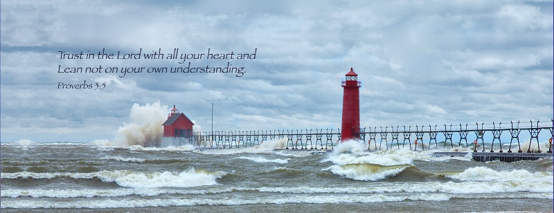 Storm at Grand Haven / Proverbs 3:5  - ID: 14258266 © Leland N. Saunders