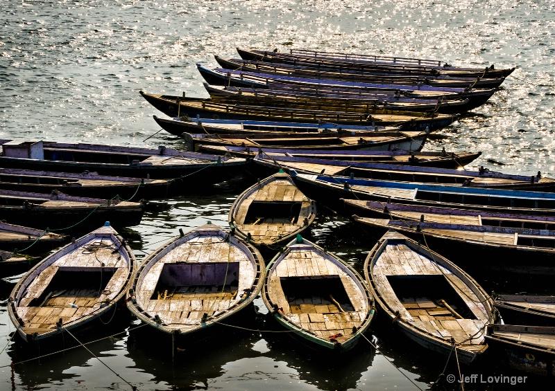 Boats on the Ganges, Varanassi, India    - ID: 14271265 © Jeff Lovinger