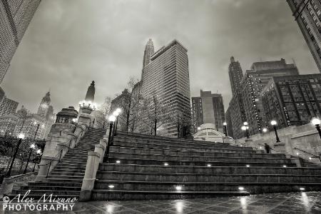 RAINY EVENING IN CHICAGO