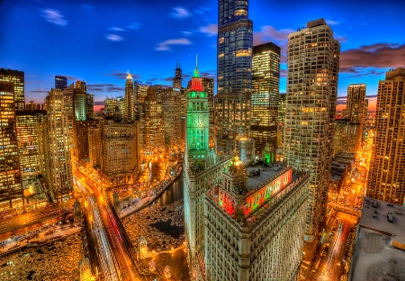 Chicago from the Tribune Tower Crown