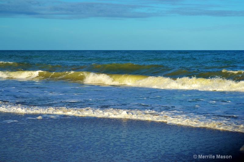 Waves roll on Vero Beach - ID: 14346643 © Merrille Mason