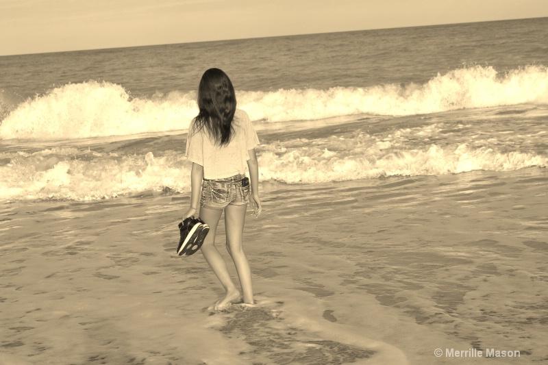 H in Vero Beach surf - ID: 14346670 © Merrille Mason