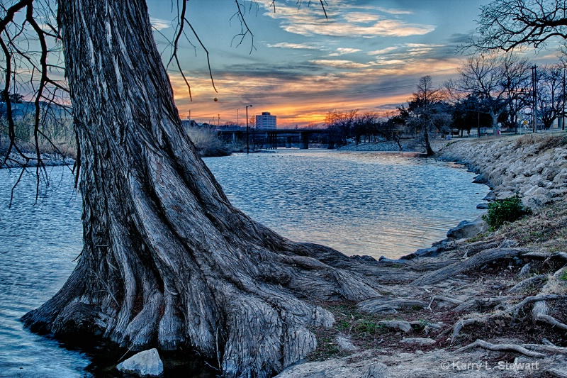 Conco River Sunset No.1 - ID: 14367776 © Kerry L. Stewart
