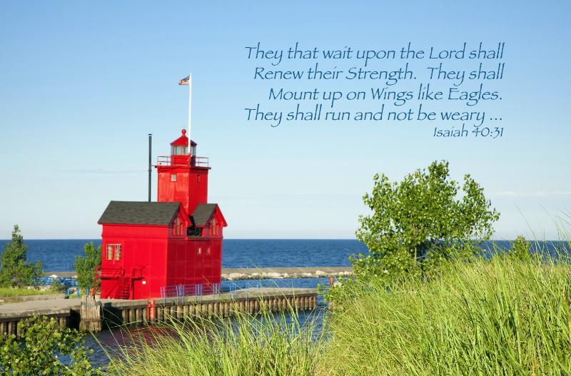 """""""Big Red"""" Morning / Isaiah 40:31 - ID: 14369492 © Leland N. Saunders"""