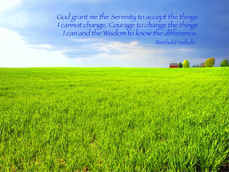 Green Field / The Serenity Prayer - ID: 14449111 © Leland N. Saunders