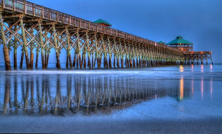Folly Beach Pier Reflections